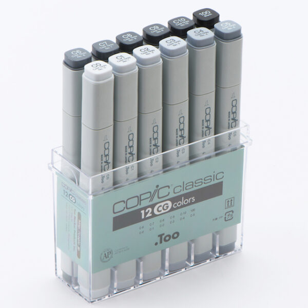 Copic marker - SET 12 Cool Gray