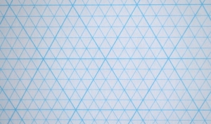 mercurius isometrisch papier 5mm diagonaalruit a4 blok