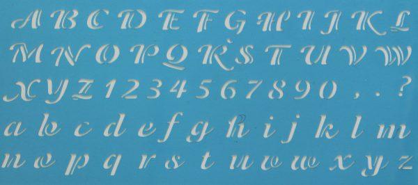lettersjabloon cursief 15mm