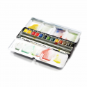 W&N Professional Watercolour - Black Box 12 halve napjes