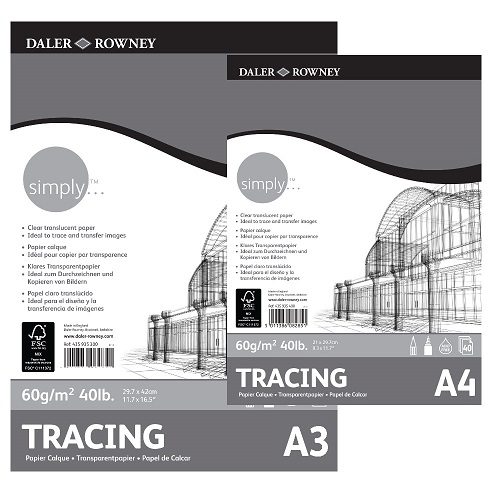 DR Simply TRACING paper 60gram 40vel - Blok A4