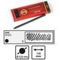Koh I Noor Gioconda Tekenstiften ø5,6mm 6 stuks - 4345 Negro 2 Medium