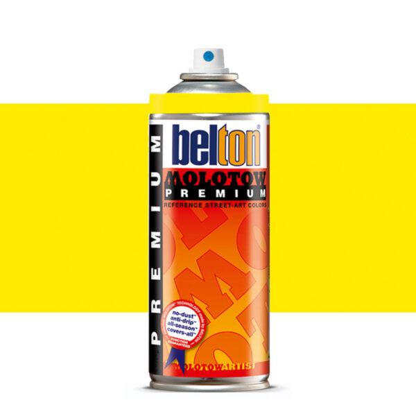 Molotow Belton Premium Artist Spraypaint 400ml - 232 Neon Yellow