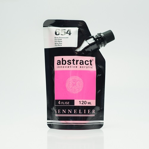 Abstract Acrylverf Sennelier – 120ml 654 Fluorescent Rose