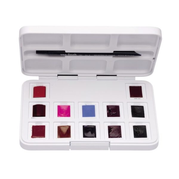 Van Gogh Aquarel Pocket Box - SET 12x 1/2 napjes ROZE&VIOLETTEN